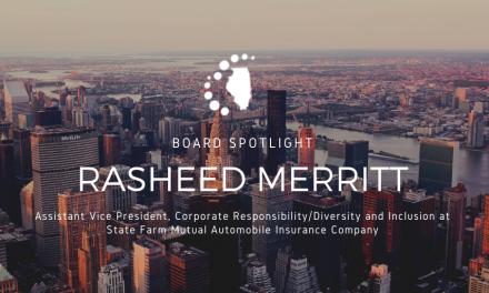 ILDC Board Profile: Rasheed Merritt, Asst. VP Corp. Responsibility/D & I at State Farm
